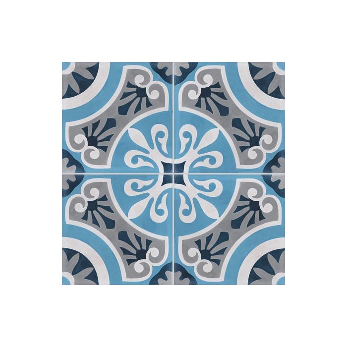 carreau de ciment color motif 4 carreaux bleu clair et fonc blanc et gris cercle. Black Bedroom Furniture Sets. Home Design Ideas