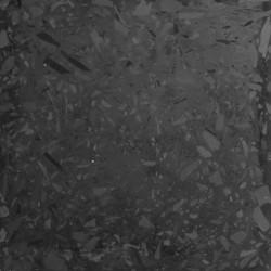 Carreau Terrazzo uni noir Zen Ardoise, 30x30cm