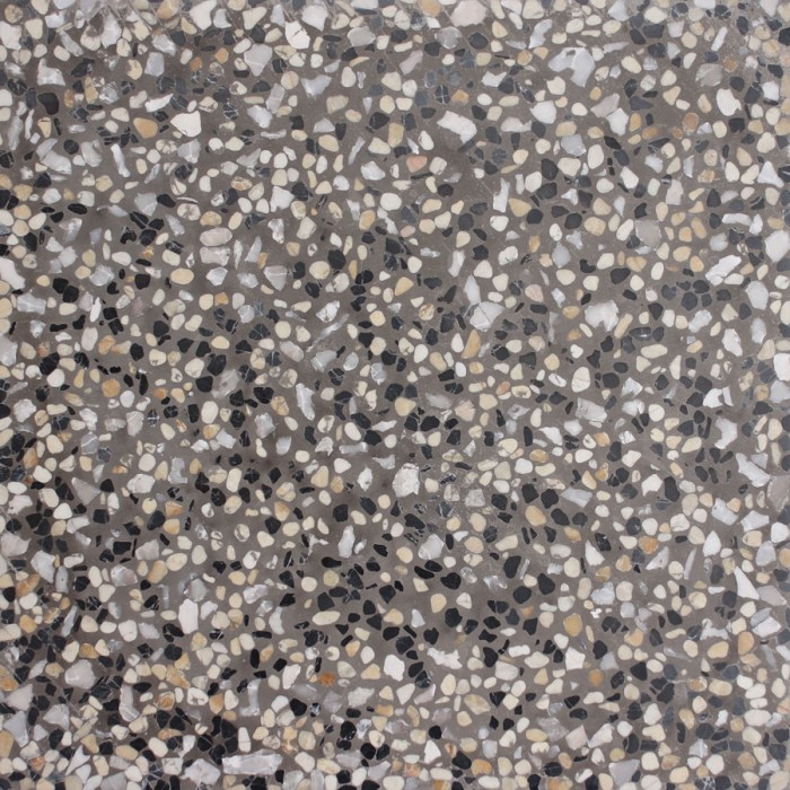 Carreau terrazzo uni gris moyen powo marbre 30x30cm for Carrelage terrazzo