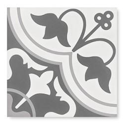 Carrelage grès cérame effet carreau ciment Cement Tradition Decor 1 (2 couleurs), 18,5x18,5cm