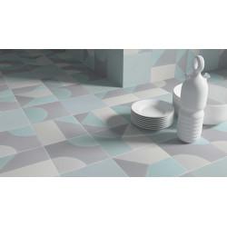 Carrelage grès cérame effet carreau ciment Cement Play Decor (2 couleurs), 18,5x18,5cm
