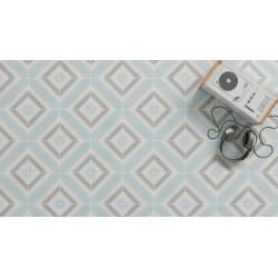Carrelage grès cérame effet carreau ciment Cement Pattern Decor (2 couleurs), 18,5x18,5cm