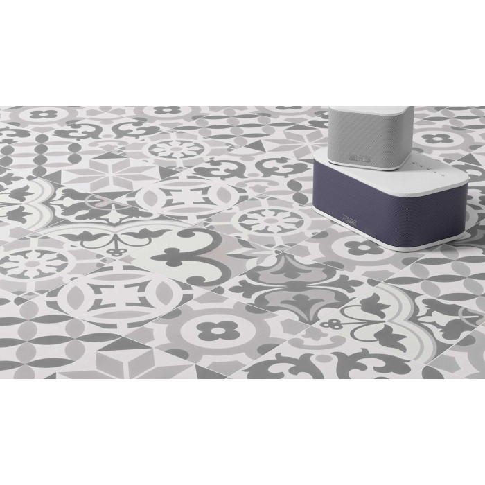 Carrelage grès cérame effet carreau ciment Cement Tradition Decor Mix (2 couleurs), 18,5x18,5cm