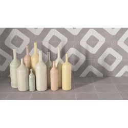 Carrelage grès cérame effet carreau ciment Boreal Link Decor (3 couleurs), 18,5x18,5cm