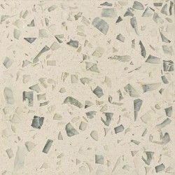 Carreau Terrazzo uni crème inclusions verre TU10V, 20x20cm