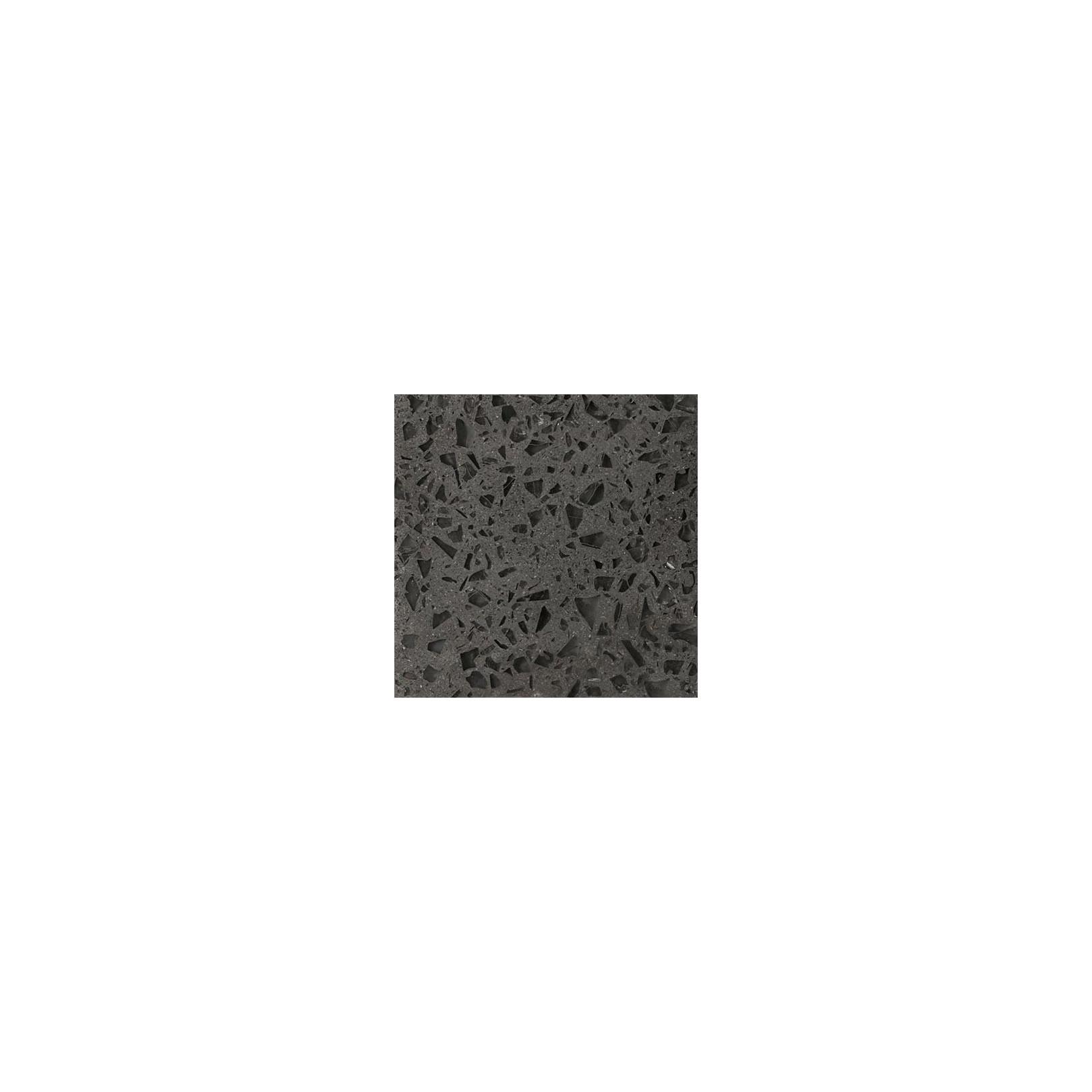 Carreau Terrazzo uni noir inclusions verre TU01V, 20x20cm