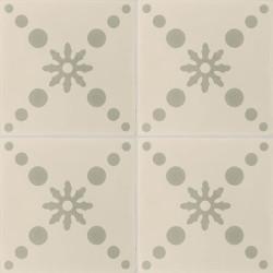 4 carreaux de ciment coloré gris et beige CO 16