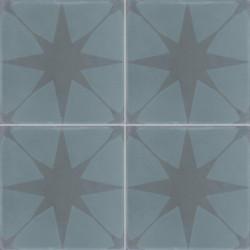 Carreau de ciment coloré motif 4 carreaux bleu canard et bleu foncé VEGA 39.40