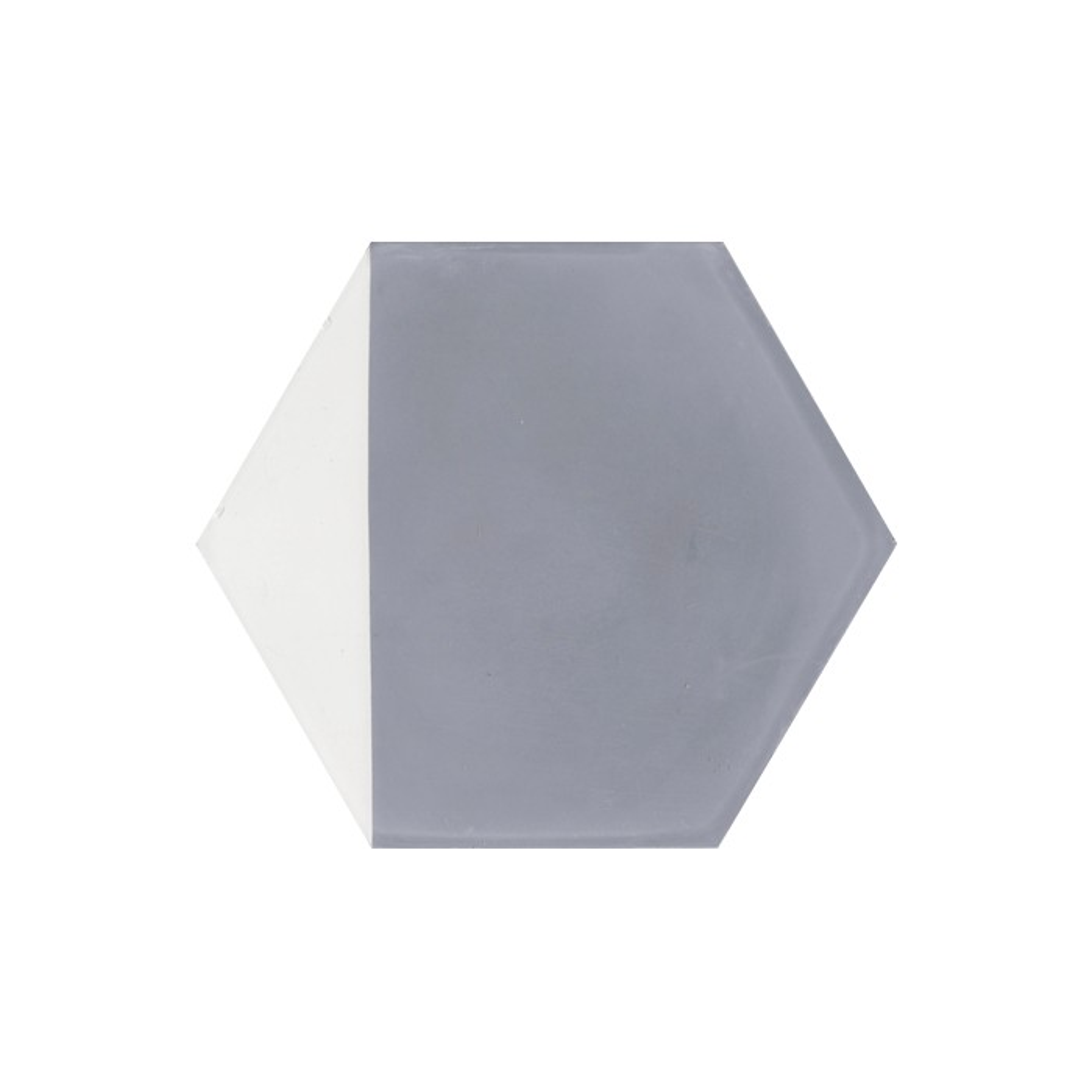 Carreau de ciment coloré Hexagone motif angle gris et blanc CLOVIS 33.10