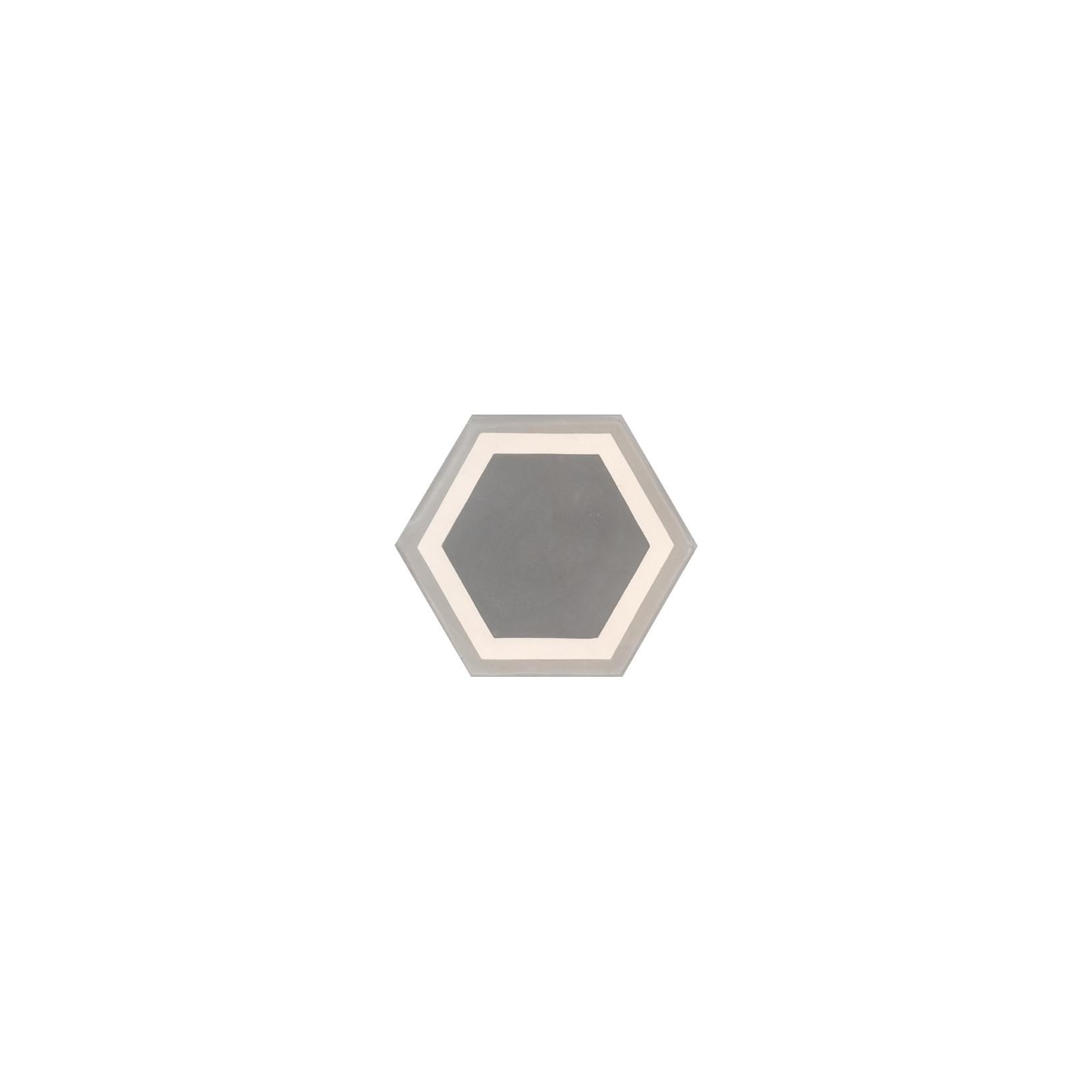 carreau de ciment color hexagone motif contours gris. Black Bedroom Furniture Sets. Home Design Ideas