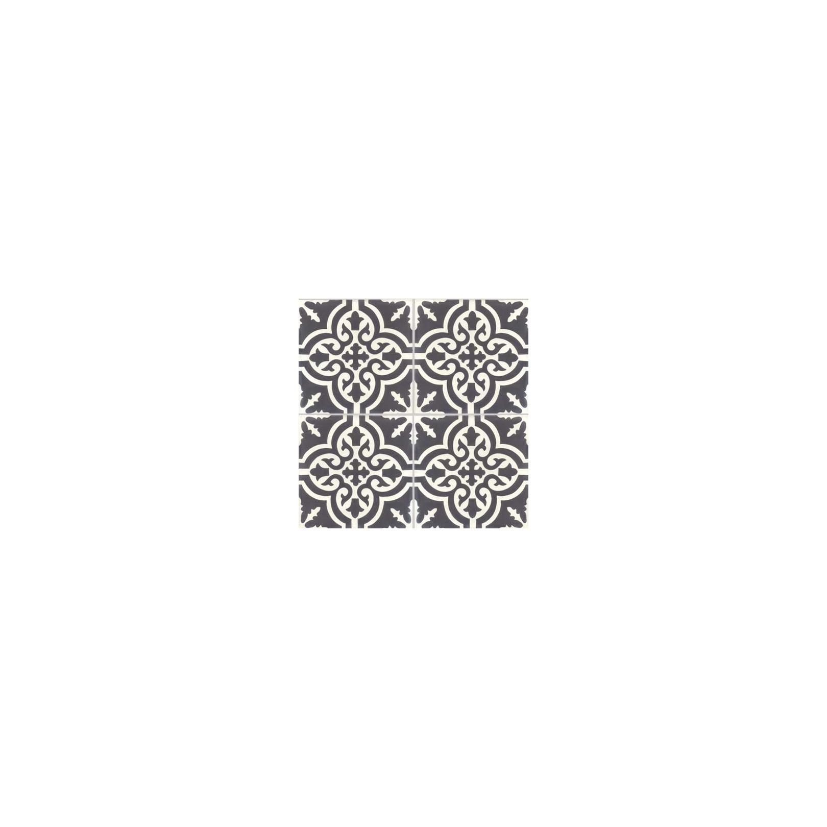 carreau de ciment color motif 4 carreaux noir et blanc trouville casalux home design. Black Bedroom Furniture Sets. Home Design Ideas