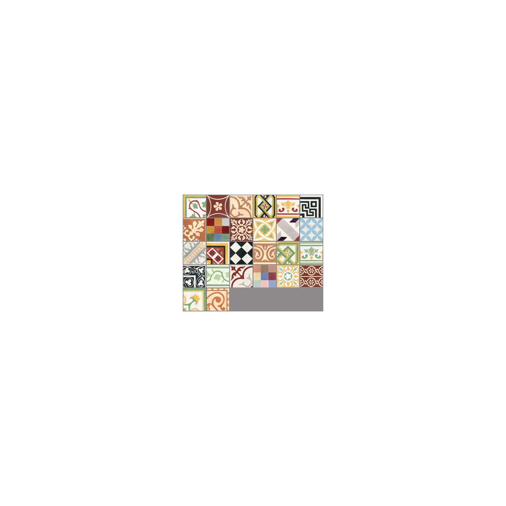 Carreau de ciment coloré patchwork couleurs PW 26