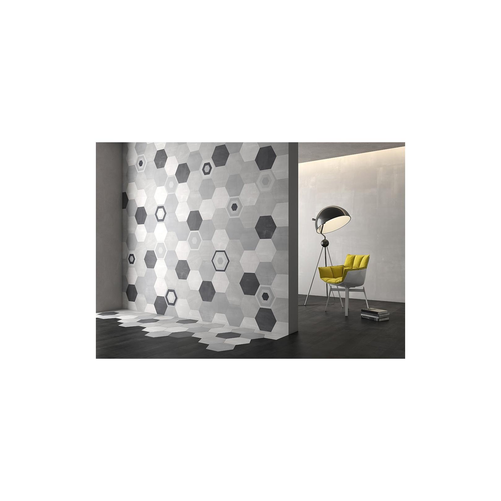 Carrelage grès cérame hexagone Starkhex (5 couleurs), 29x25,8cm