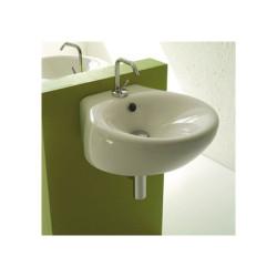 Vasque à poser ou à suspendre Touch 44,5x49,5cm, TOLAV47