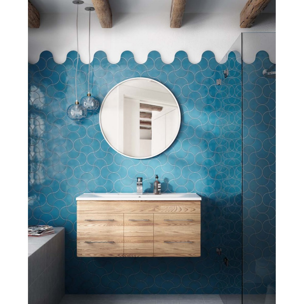 Carrelage Mural Fa Ence Scale Fan 10 Couleurs Caille