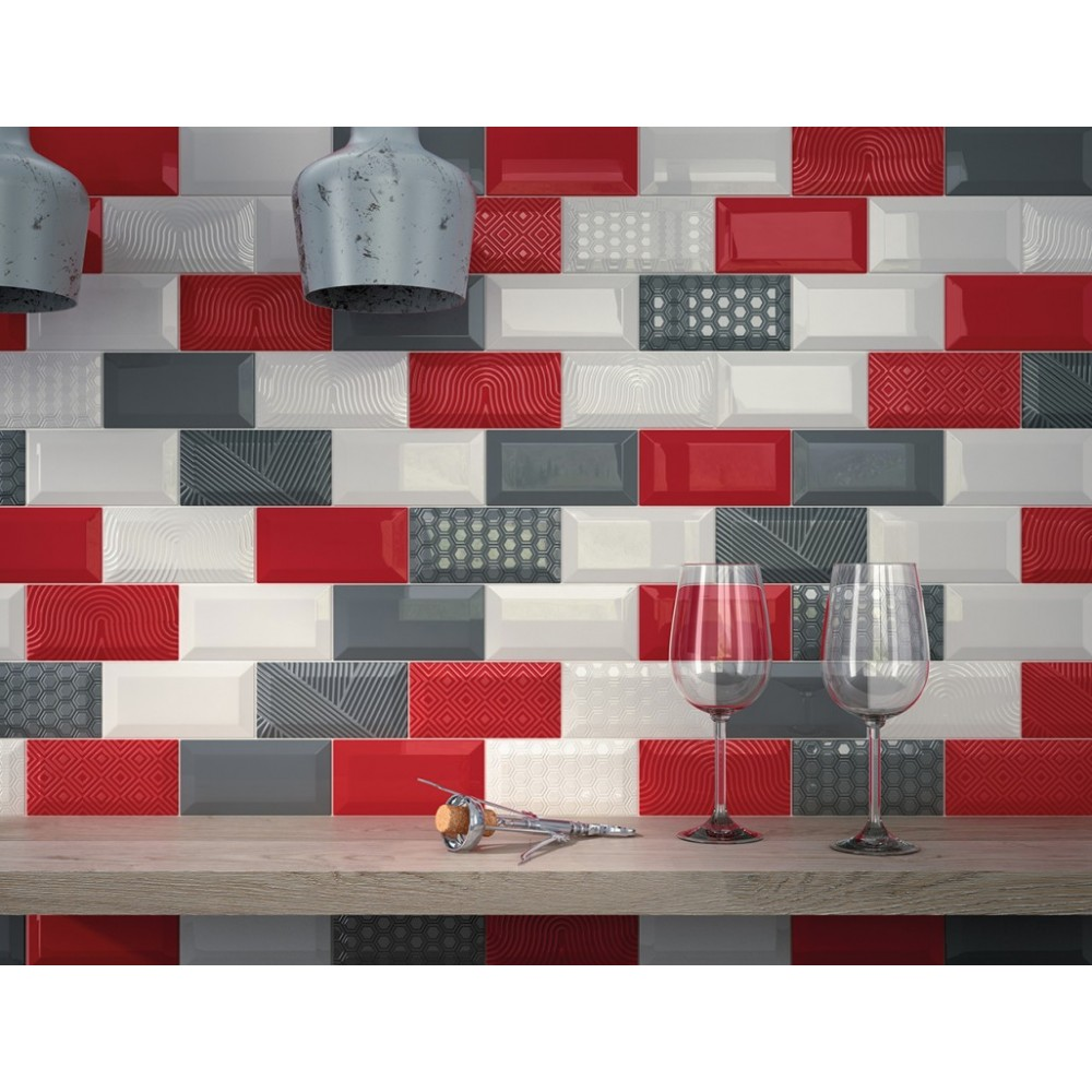 Awesome carrelage metro couleur pictures for Carrelage mural rouge