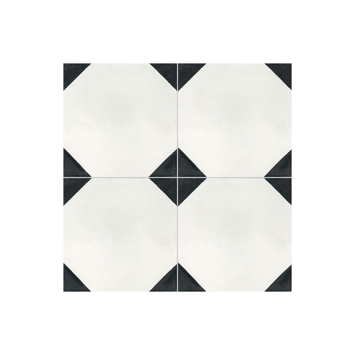 Carreau ciment noir et blanc maison design for Carrelage damier noir et blanc 20x20