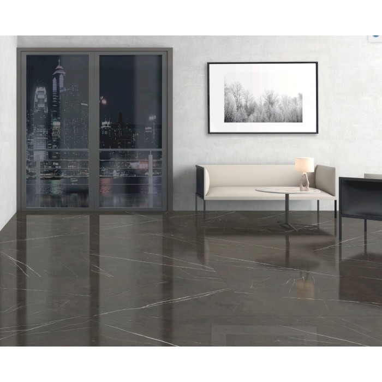 Carrelage gr s c rame effet marbre pietra grey gris chaud for Carrelage marbre gris