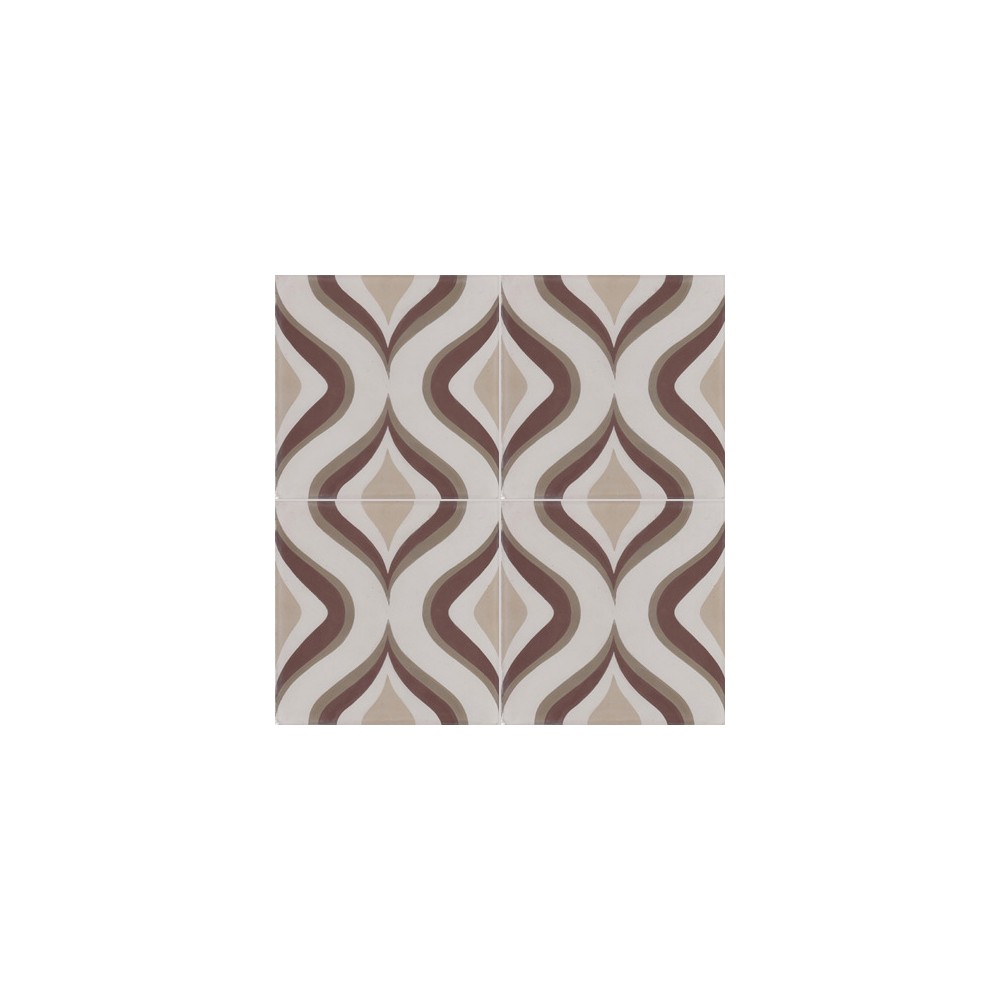 carreau de ciment color motif 4 carreaux beige cr me taupe et marron oslo. Black Bedroom Furniture Sets. Home Design Ideas