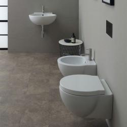 WC suspendu Short 50x38cm avec abattant (14 couleurs) ref. 30120101