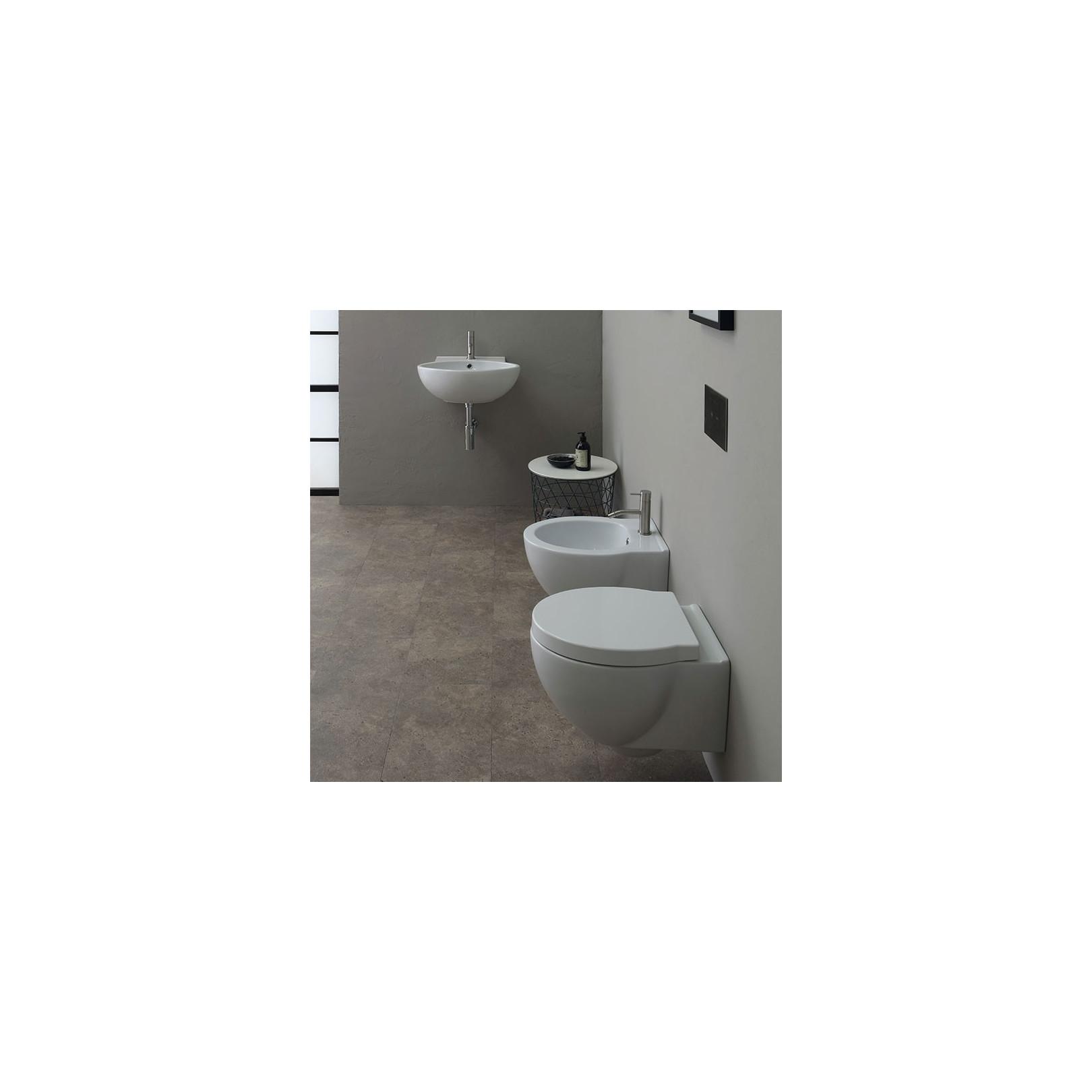 WC suspendu Short 50x38cm avec abattant