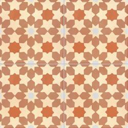 4 Carreaux de ciment coloré Marron (terre cuite) NC01 24.25.26.07