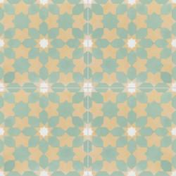 4 Carreaux de ciment coloré vert, jaune et blanc CE01 03.10.08