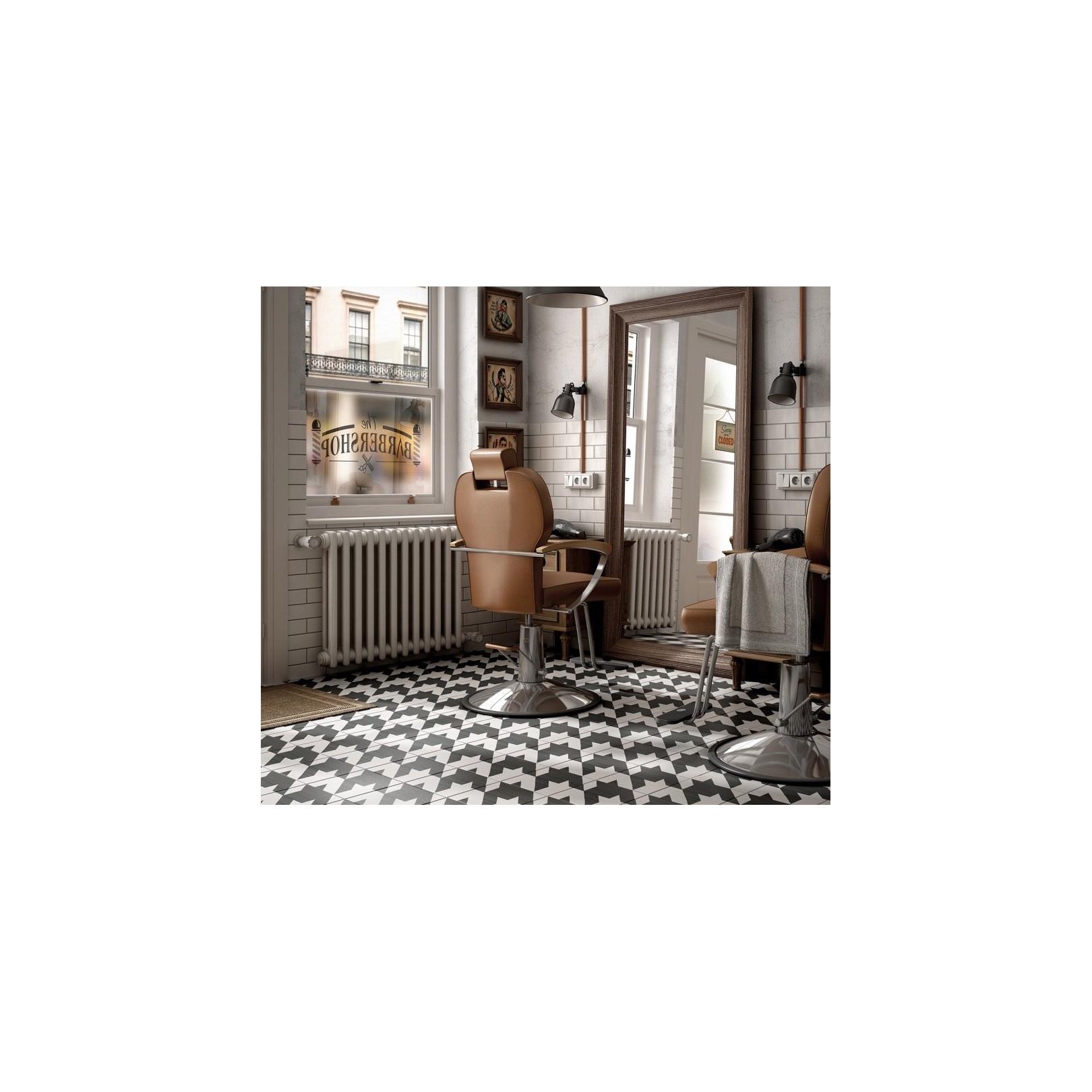 Carrelage grès cérame effet carreau ciment Caprice Deco B&W Tweed