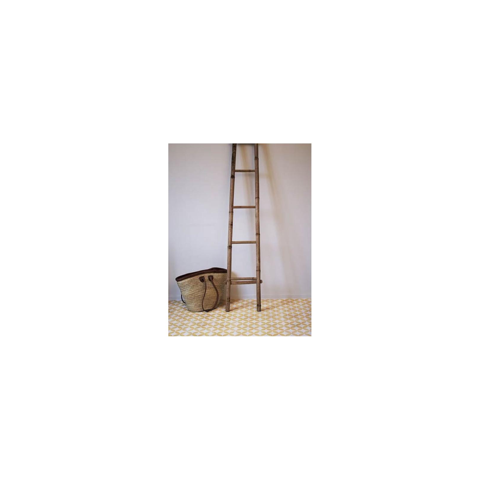 Carreau de ciment coloré motif jaune et blanc C11 10.08
