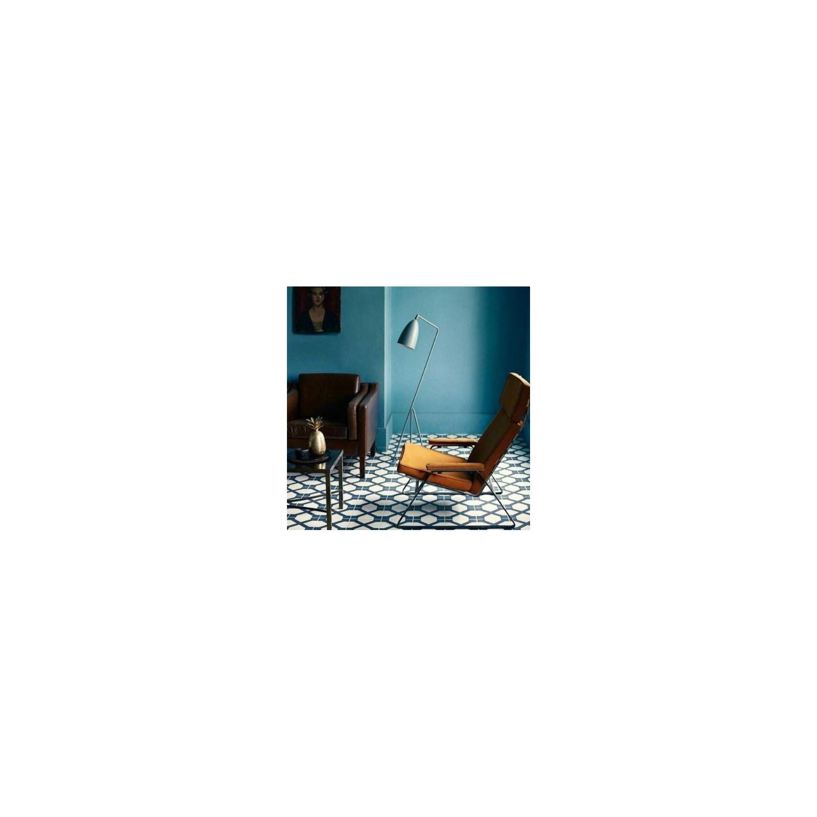 Carreau de ciment coloré motif gris clair et bleu ELLIOT 07.20