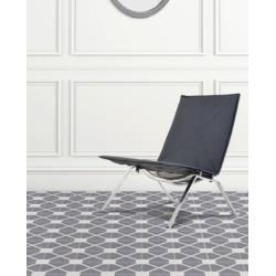 4 Carreaux de ciment coloré motif gris clair et gris foncé ELLIOT 33.07