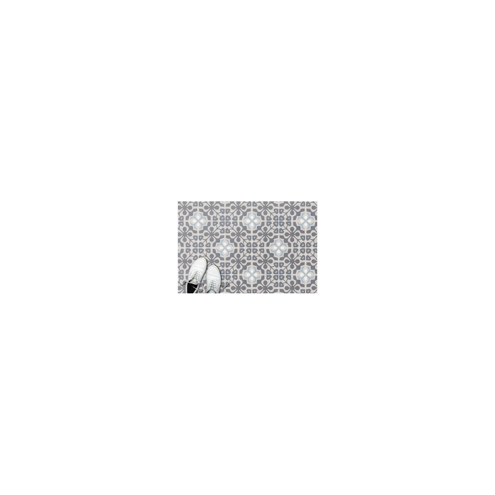 Carreau de ciment coloré motif 4 carreaux beige, gris foncé, bleu, blanc MADISON 33.07.60.10
