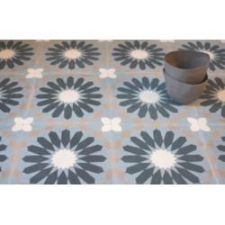 Carreau de ciment coloré motif 4 carreaux gris, bleu, bleu profond et gris moyen RE 15.07.27.30