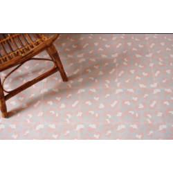 Carreau de ciment coloré motif 4 carreaux rose, gris clair et moyen LEO 05.10.07