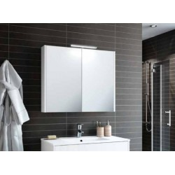Armoire miroir suspendue de salle de bain, faible profondeur, Schwan 600 et 800
