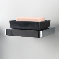 Porte savon mural verre et laiton chromé 4202201/02