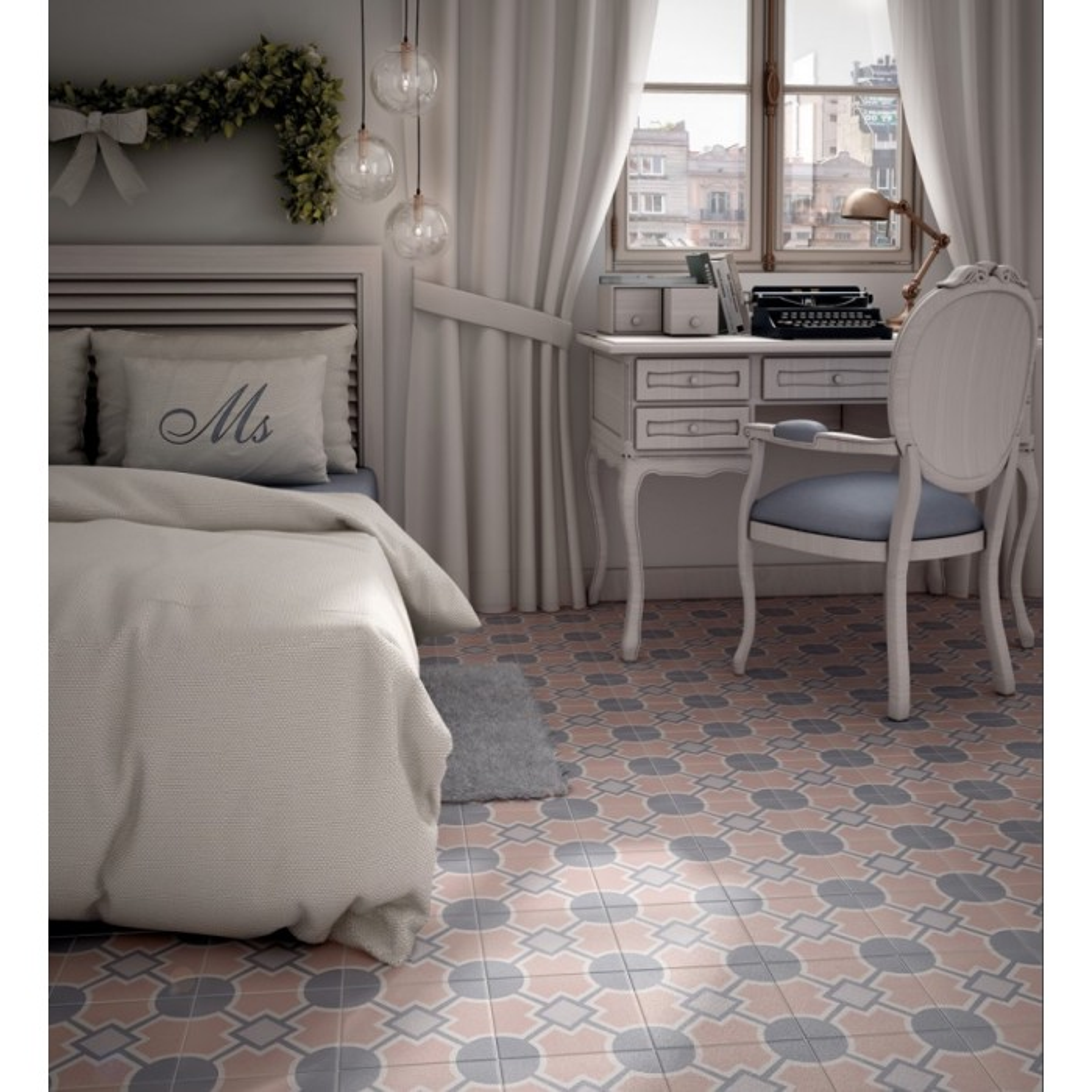 carrelage gr s c rame effet carreau ciment caprice deco pastel solstice casalux home design. Black Bedroom Furniture Sets. Home Design Ideas