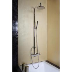 Colonne de douche mitigeur externe 1002760 avec inverseur intégré, tête de douche et douchette