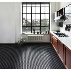 Mosaïque hexagone 2,6x2,2cm motif Damero HX noir et blanc (2 finitions)