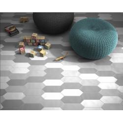 Carrelage grès cérame effet graphique Kite crayon 30x10cm (7 couleurs, 5 décors)