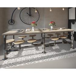 Carrelage grès cérame effet carreau ciment Barcelona Sand 25x25cm