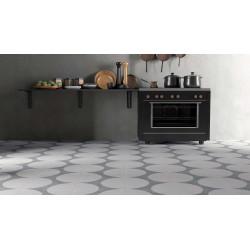 Carrelage grès cérame effet carreau ciment Boreal Dots Decor (3 couleurs), 18,5x18,5cm