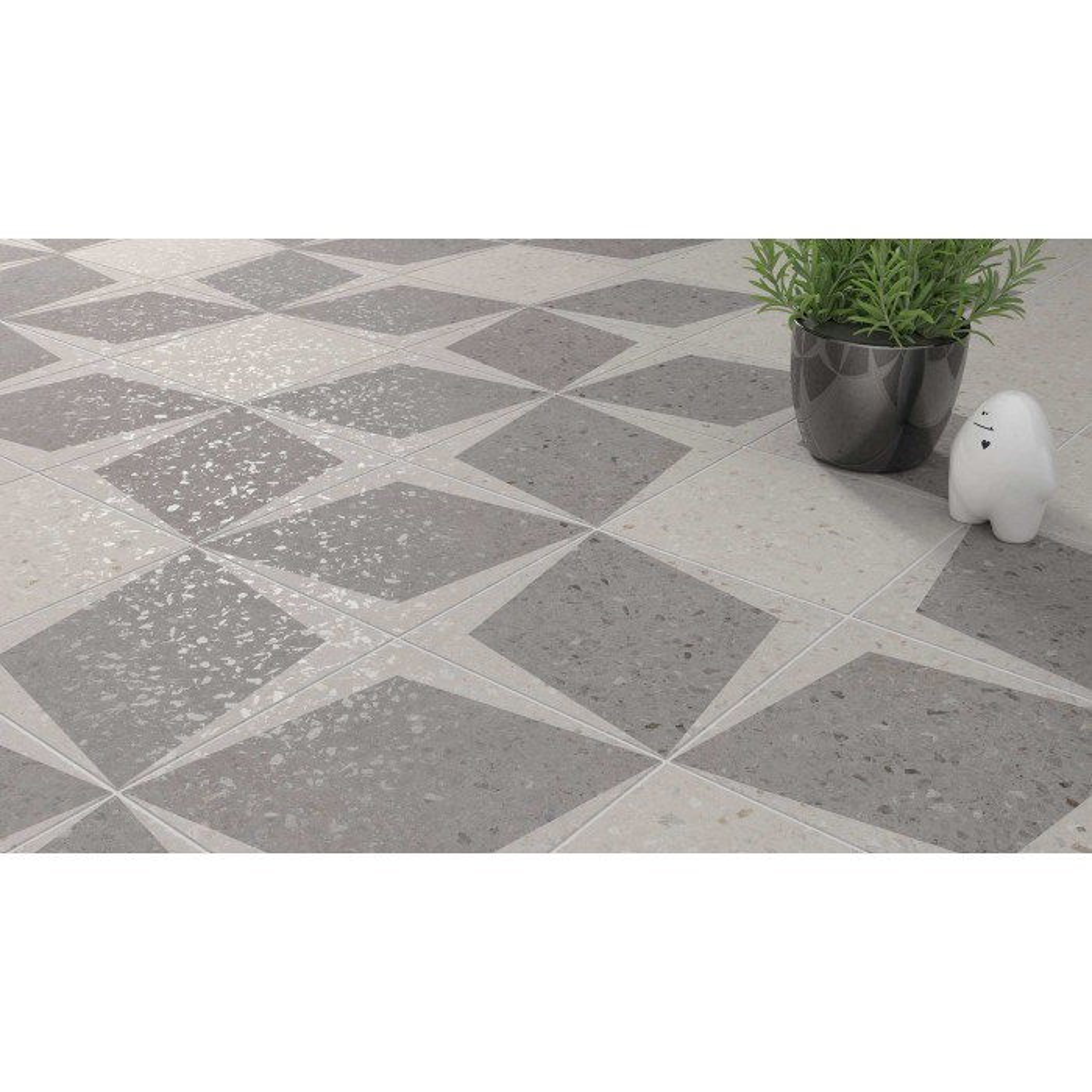 Carrelage gr s c rame effet terrazzo drops rhombus decor for Carrelage terrazzo