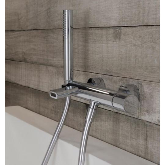 Robinet mitigeur inverseur baignoire Nanotech 5400 mural (non encastré) avec écoulement bain et douchette