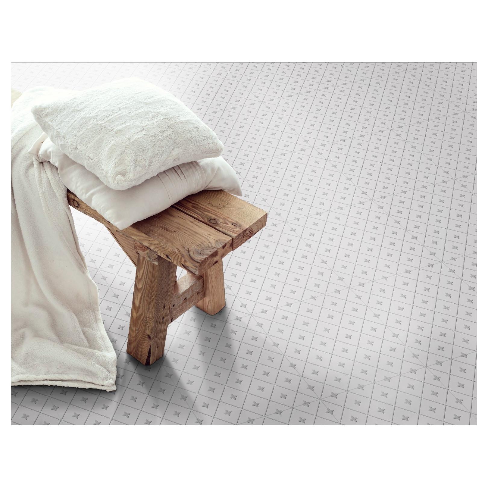 Carrelage gr s c rame effet carreau ciment alhambra gris - Carrelage effet carreau ciment ...