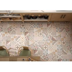 Carrelage grès cérame effet carreau ciment Caprice Deco Pastel Patchwork