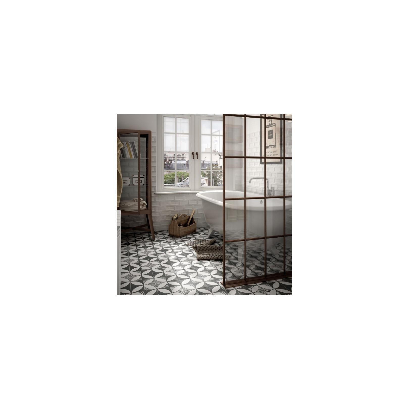 carrelage gr s c rame effet carreau ciment caprice deco b w compass casalux home design. Black Bedroom Furniture Sets. Home Design Ideas