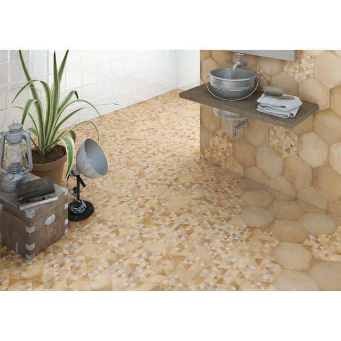 Carrelage gr s c rame effet chaux laverton hexagono for Difference carrelage interieur et exterieur