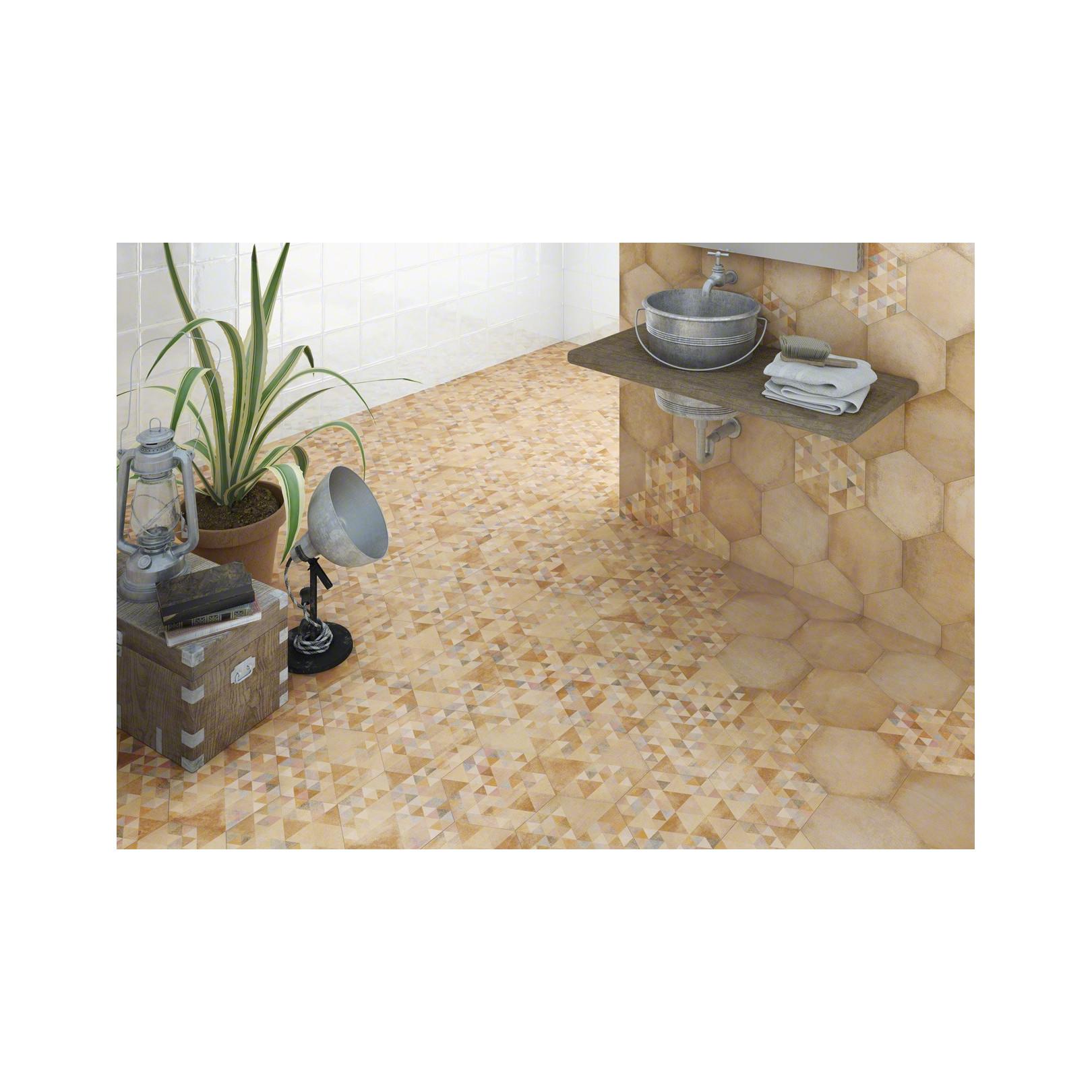Carrelage grès cérame effet chaux Laverton Hexagono Bampton et Benenden (6 couleurs et 1 décor)