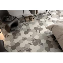 Carrelage grès cérame Hexatile Cement (6 couleurs), 20x17,5cm